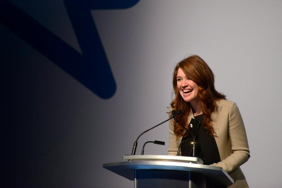 Bell Let's Talk spokesperson Clara Hughes