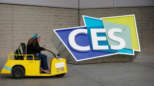 CES sign at the Las Vegas Convention Center