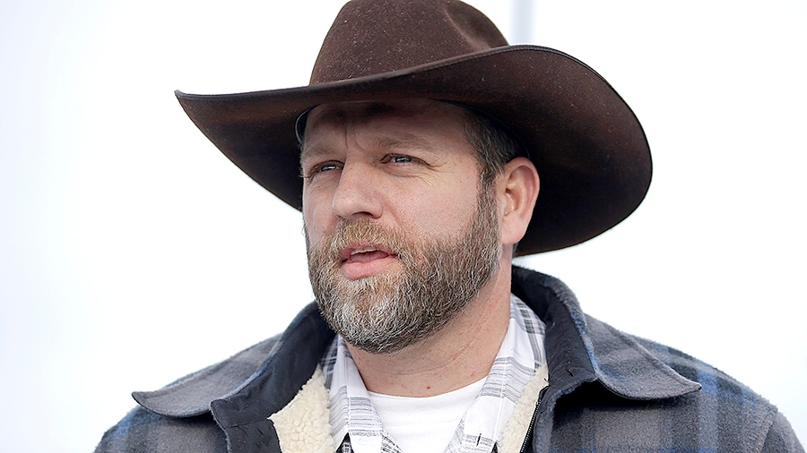 Ammon Bundy, one of the sons of Nevada rancher Cliven Bundy, speaks with reporters during a news conference at Malheur National Wildlife Refuge headquarters Monday, Jan. 4, 2016, near Burns, Ore. (AP / Rick Bowmer)