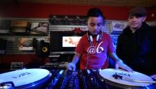 Nine-year-old DJ Brandan Duke