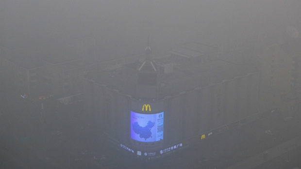 Heavy smog in Beijing