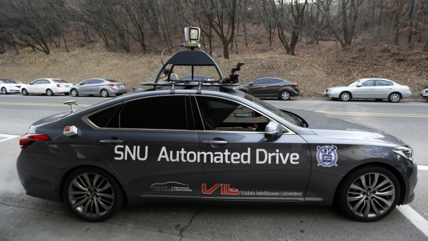 Driverless taxi in South Korea