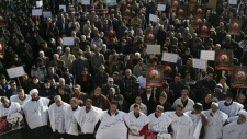 Protest in Iran over cleric's execution