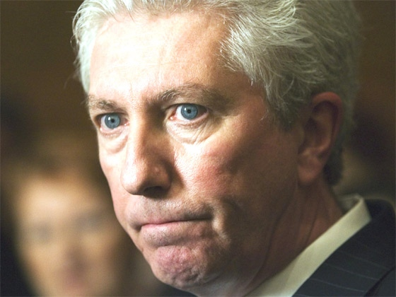 Bloc Quebecois Leader Gilles Duceppe reacts as he begins a meeting with his caucus, on Parliament Hill in Ottawa, May 14, 2007. (CP / Fred Chartrand)