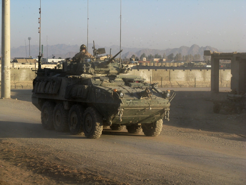 In this file photo, a LAV III light armoured vehicle is seen in the Zhari district in Afghanistan. (Tobi Cohen/THE CANADIAN PRESS)