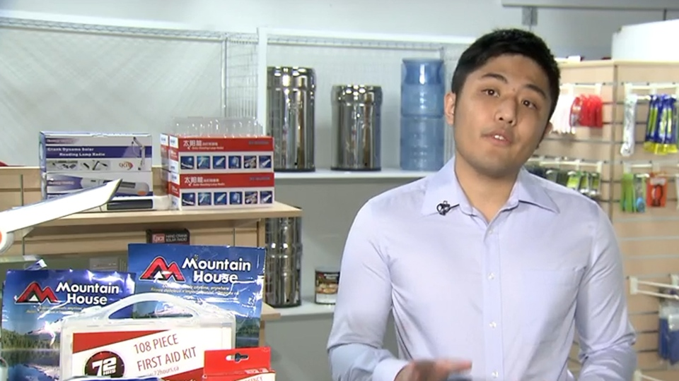 Brian Fong of Burnaby, B.C.-based 72 Hours says the company's emergency kits are on backorder following last Tuesday's earthquake.