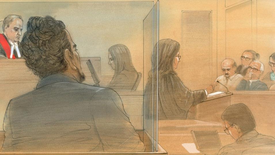 Everton Biddersingh listens as Crown attorney Mary Humphrey addresses the jury at a Toronto courthouse on Monday, Jan. 4, 2016. (John Mantha / CTV Toronto)