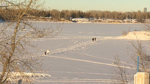 Fire officials say it's not safe to recreate on the Glenmore Reservoir or other bodies of water in and around the city at this time of year.