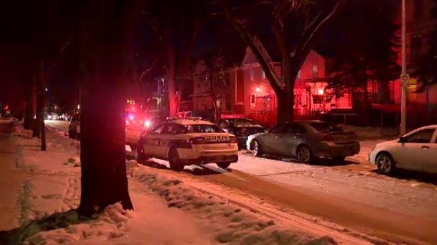 People near a Spence Street duplex say they heard three loud gunshots fired Tuesday night.