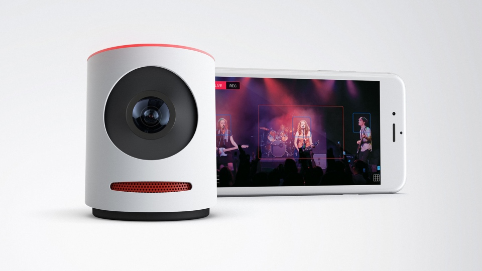 The Livestream Movi will be available in black or white, priced from $399. (Photo from Livestream)
