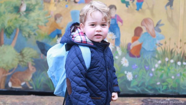 Prince George starts nursery school