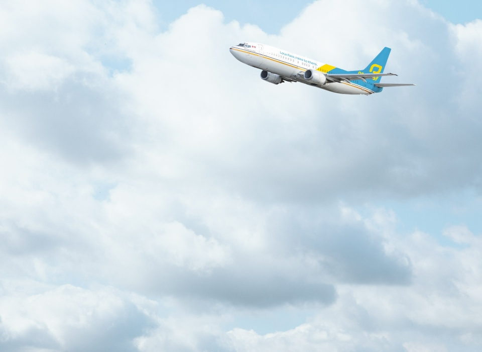 A NewLeaf Travel airplane is shown in this image from the company's website.