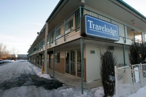 A Travelodge motel sign is shown in this file photo. (AP / Nam Y. Huh)