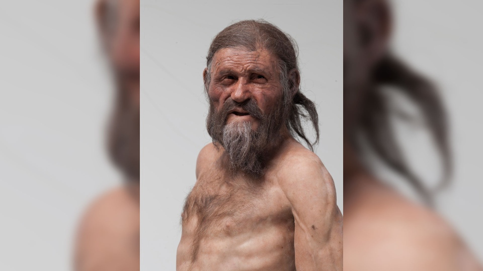 A reconstruction of the Iceman by Adrie and Alfons Kennis (South Tyrol Museum of Archaeology, Foto Ochsenreiter)
