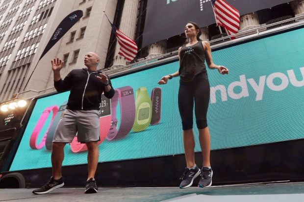 Fitbit workout on Wall Street