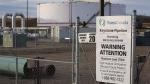 TransCanada's Keystone pipeline facilities in Hardisty, Alta., Friday, Nov. 6, 2015. (THE CANADIAN PRESS/Jeff McIntosh)