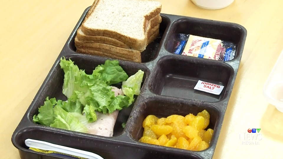A meal tray is shown at the Regina Correctional Centre, in Regina, Wednesday, Jan. 6, 2016.