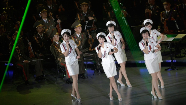 Moranbong performs in North Korea