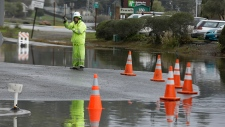 Flooding in California after intense rain
