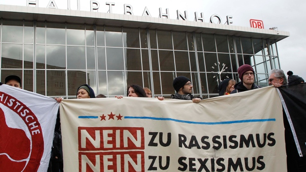 Protest against sexual assaults in Germany