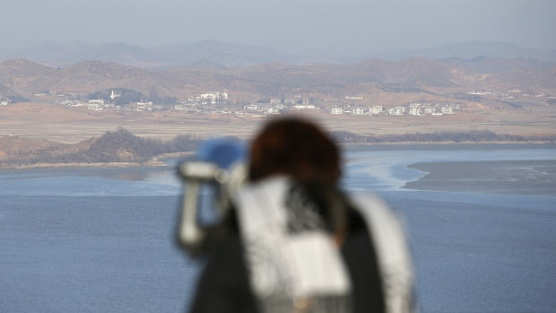 North Korean territory seen from South Korea
