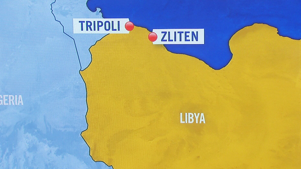 Libyan officials say a truck bomb exploded in the western town of Zliten near a police camp, killing at least 60 policemen and wounding at least 200.