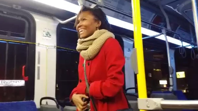 Winnipegger Alex Johnson proposed to Yuly Martinez (pictured above)on a Winnipeg Transit bus Wednesday night. She said 'yes'.