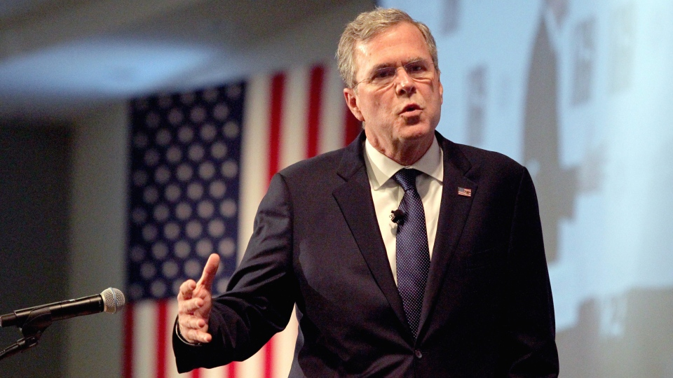 Republican presidential candidate, former Florida Gov. Jeb Bush speaks at the New Hampshire Forum on Addiction and the Heroin Epidemic at Southern New Hampshire University, Tuesday, Jan. 5, 2016, in Manchester, N.H. (Mary Schwalm / AP Photo)