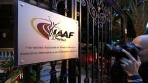 IAAF (International Association of Athletics Federations) headquarters in Monaco, on Nov.13, 2015. (Lionel Cironneau / AP)