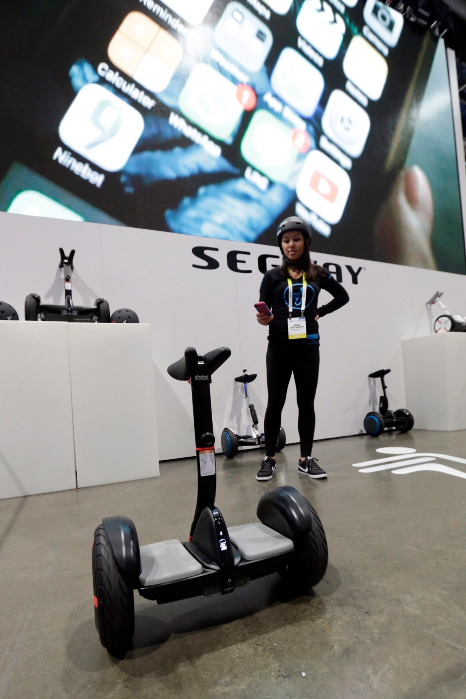 Mika Ascalson rides a Segway MiniPRO at CES International, Wednesday, Jan. 6, 2016, in Las Vegas. (Gregory Bull / AP Photo)