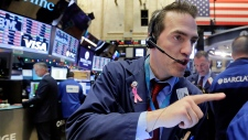 Trader at the New York Stock Exchange