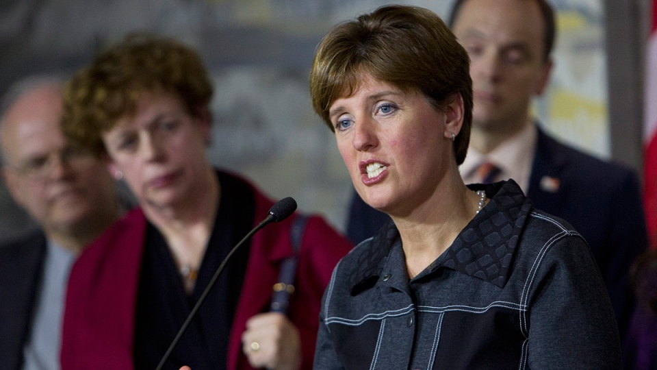 Minister of International Development Marie-Claude Bibeau responds to questions in Ottawa on Thursday, Jan. 7, 2016. (Fred Chartrand / THE CANADIAN PRESS)