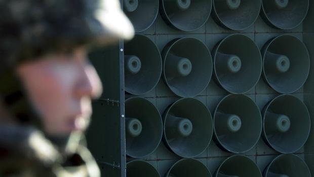 South Korea broadcasts anti-North Korea message