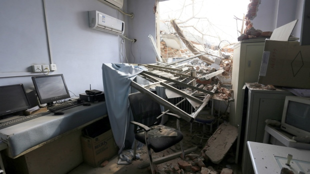 Crews demolish part of hospital in China