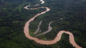 In this file photo, an aerial view of the Mosquitia region is seen near the remote community of Ahuas, Honduras, Monday, May 21, 2012.(Rodrigo Abd / AP Photo)