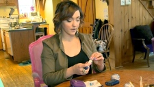 Laura Marois depends on an insulin pump