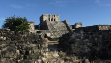 Castle of the Mayan ruins in Tulum, Mexico