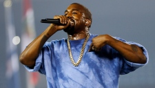 Kanye West performs in Toronto