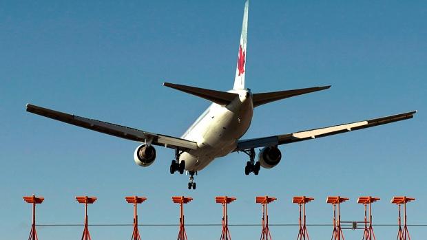 An Air Canada passenger jet