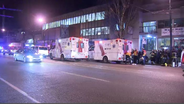 A large group, including Syrian refugees, was pepper-sprayed Friday night (CTV).