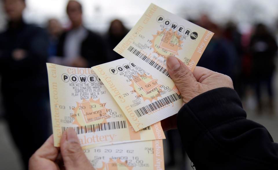In this Jan. 9, 2016 file photo, Powerball tickets are shown in San Lorenzo, Calif. (AP/Marcio Jose Sanchez)