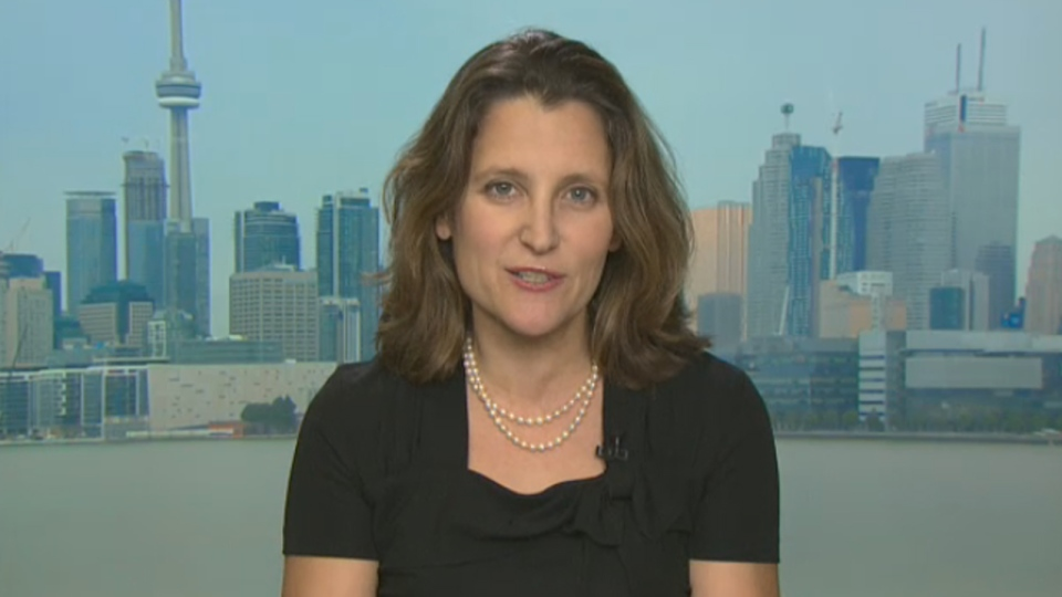 Minister of International Trade Chrystia Freeland speaks to CTV's Question Period.