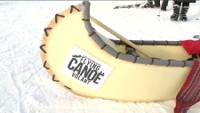 Flying canoe races
