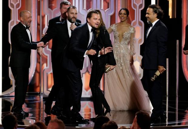 'The Revenant' lands upset win at Golden Globes