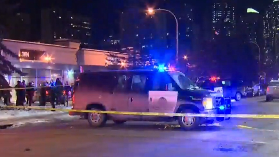 Calgary police are searching for a third suspect after a shooting at the Ten X Nightclub.