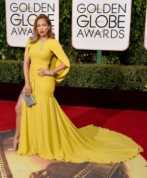 Jennifer Lopez arrives at the 73rd annual Golden Globe Awards on Sunday, Jan. 10, 2016, at the Beverly Hilton Hotel in Beverly Hills, Calif. (Photo by Jordan Strauss/Invision/AP)