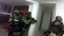 Mexican marines raid El Chapo's home