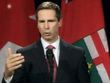 Ontario Premier Dalton McGuinty speaks from Toronto on Wednesday, Dec. 17, 2008.