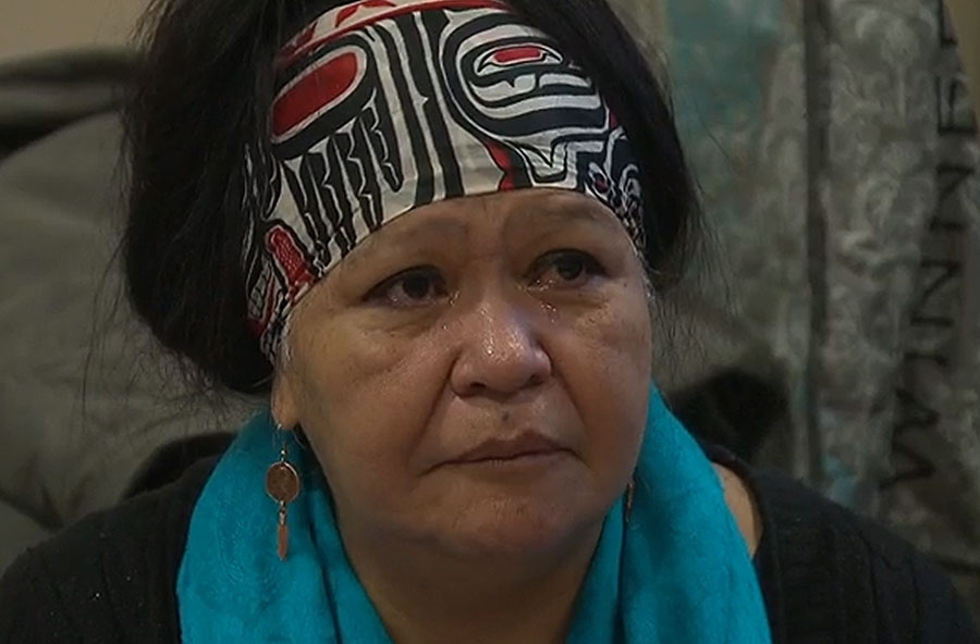 Carol Martin, a victim's service worker at the Downtown Eastside Women's Centre, speaks at a pre-inquiry meeting into the issue of missing and murdered aboriginal women in Vancouver on January 12, 2016.