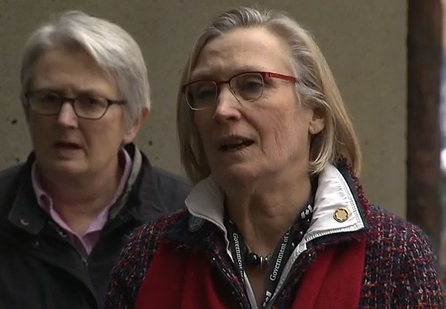 Indigenous and Northern Affairs Minister Carolyn Bennett attends a pre-inquiry meeting into the issue of missing and murdered aboriginal women in Vancouver on January 12, 2016.